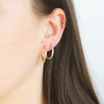 9ct Gold Bead Hoops - seol-gold