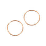 9ct Rose Gold Thin Hoops