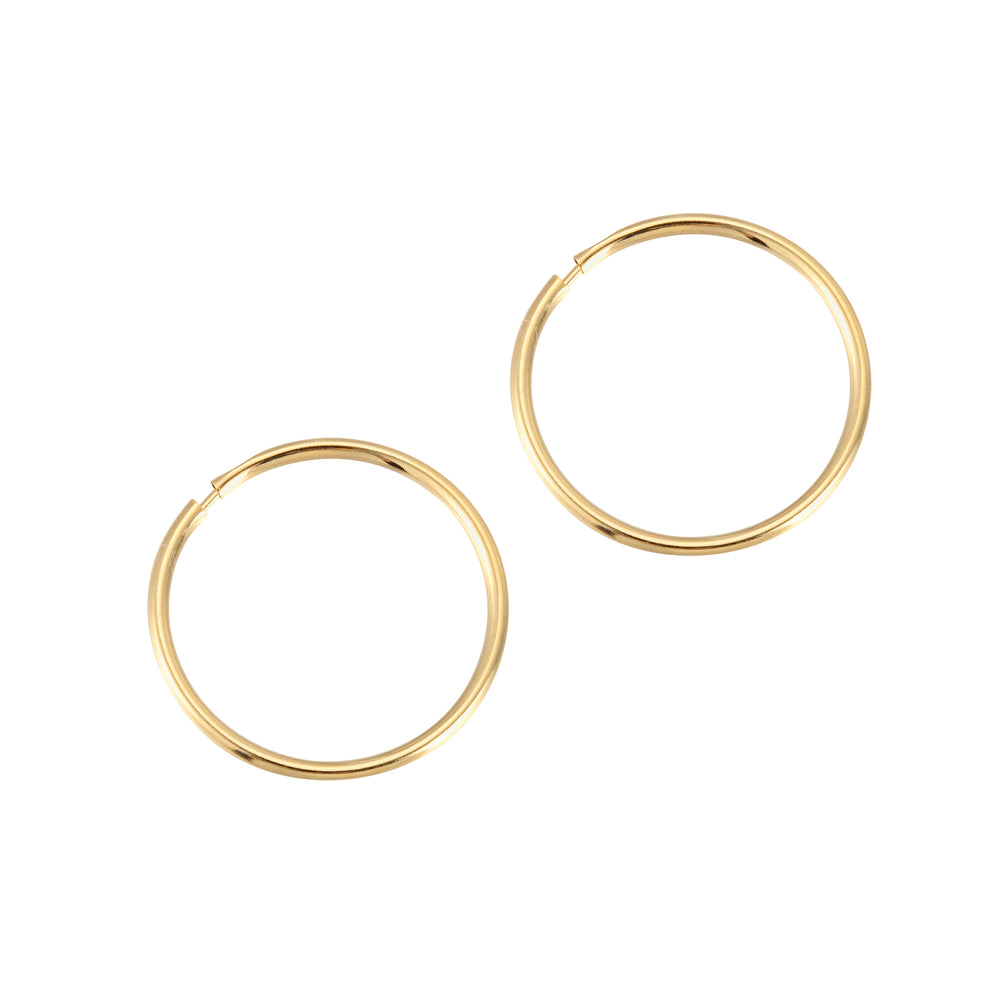 9ct Gold Thin Hoops