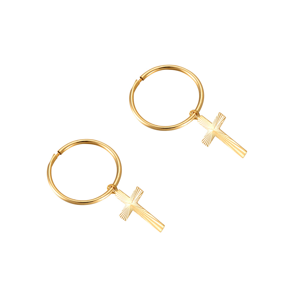 9ct gold tiny gold hoops - seolgold