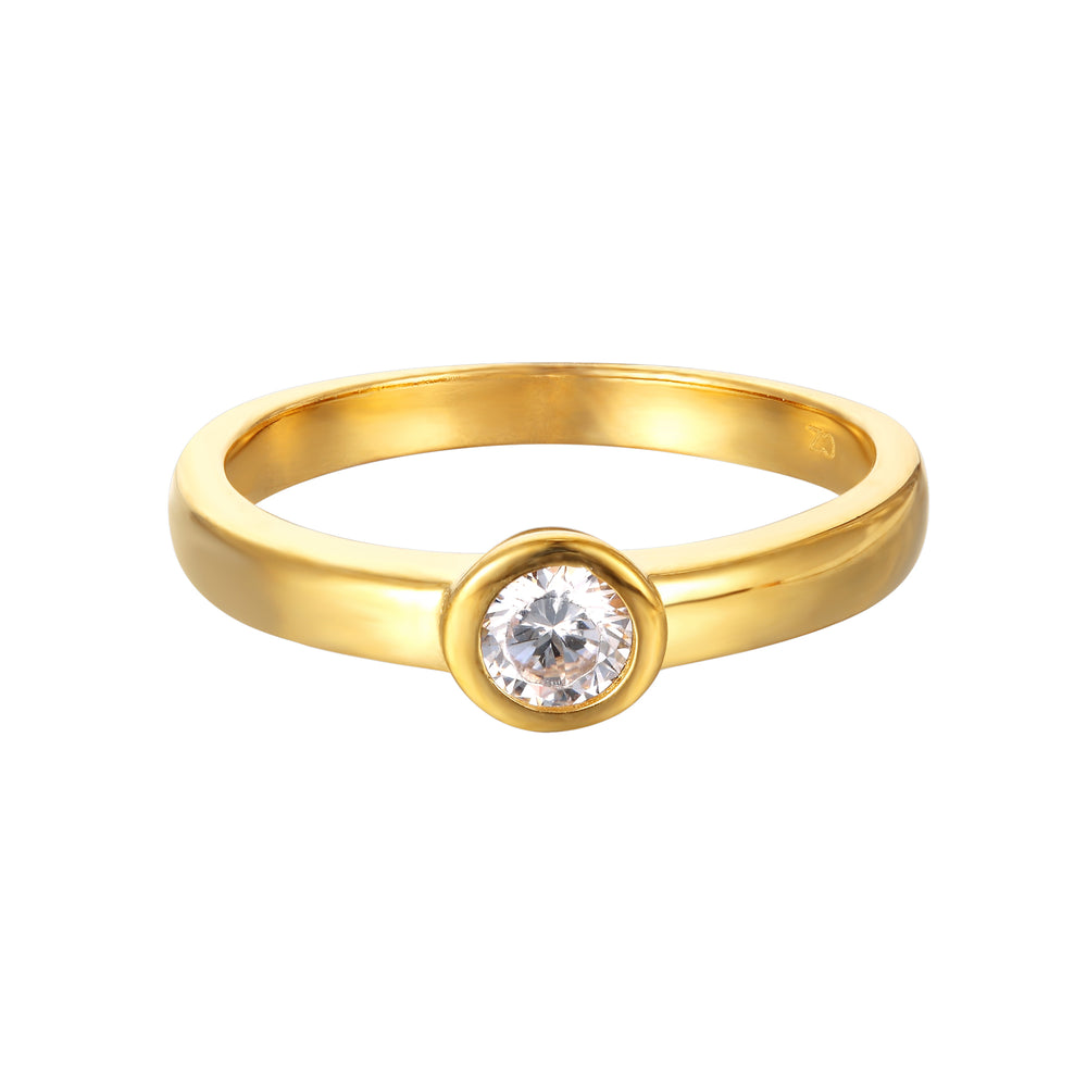 Yellow gold - stacking ring - seolgold