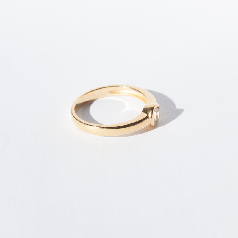 Cz bezel - stacking ring - seolgold