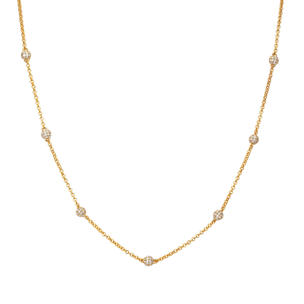 Pave Beaded Chain