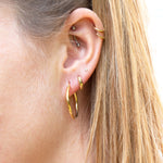 Large rounded creole hoops - seol-gold