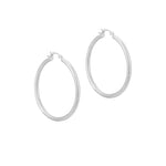 sterling silver creole hoops - seol-gold