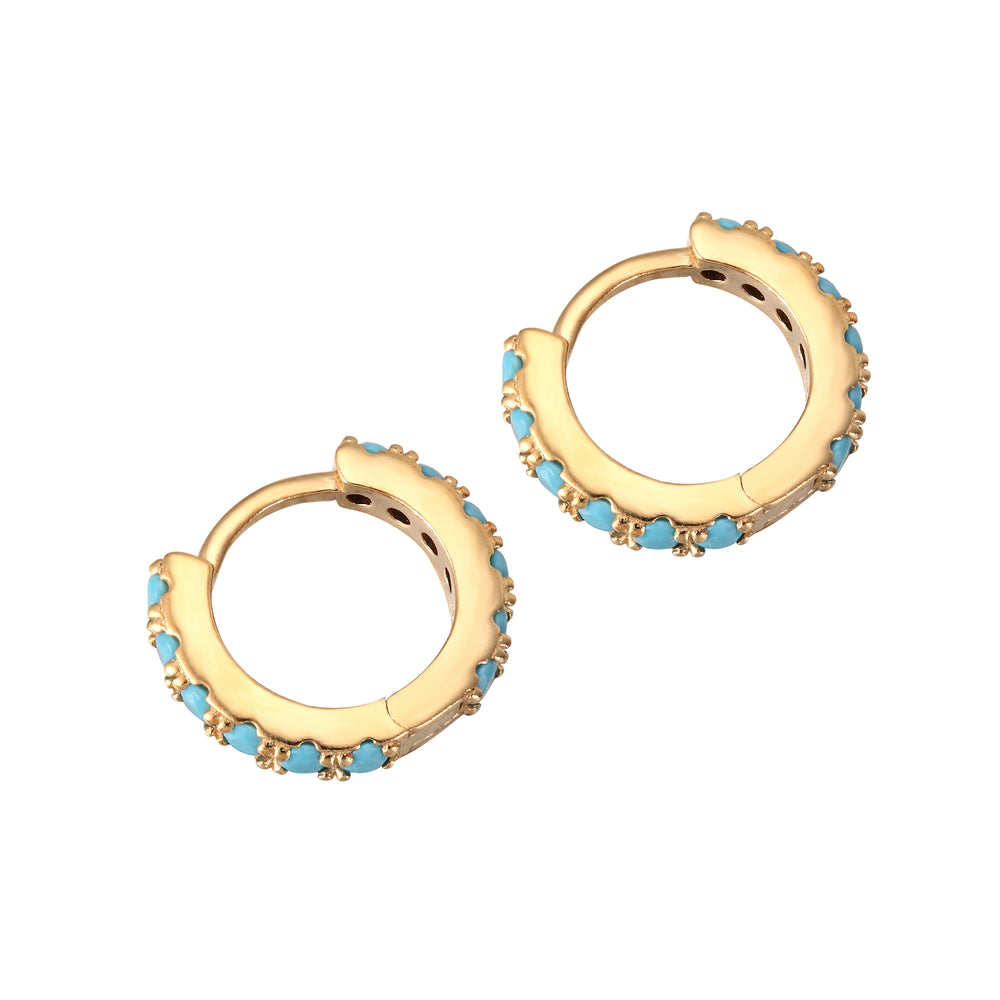 turquoise - cartilage hoops - seolgold