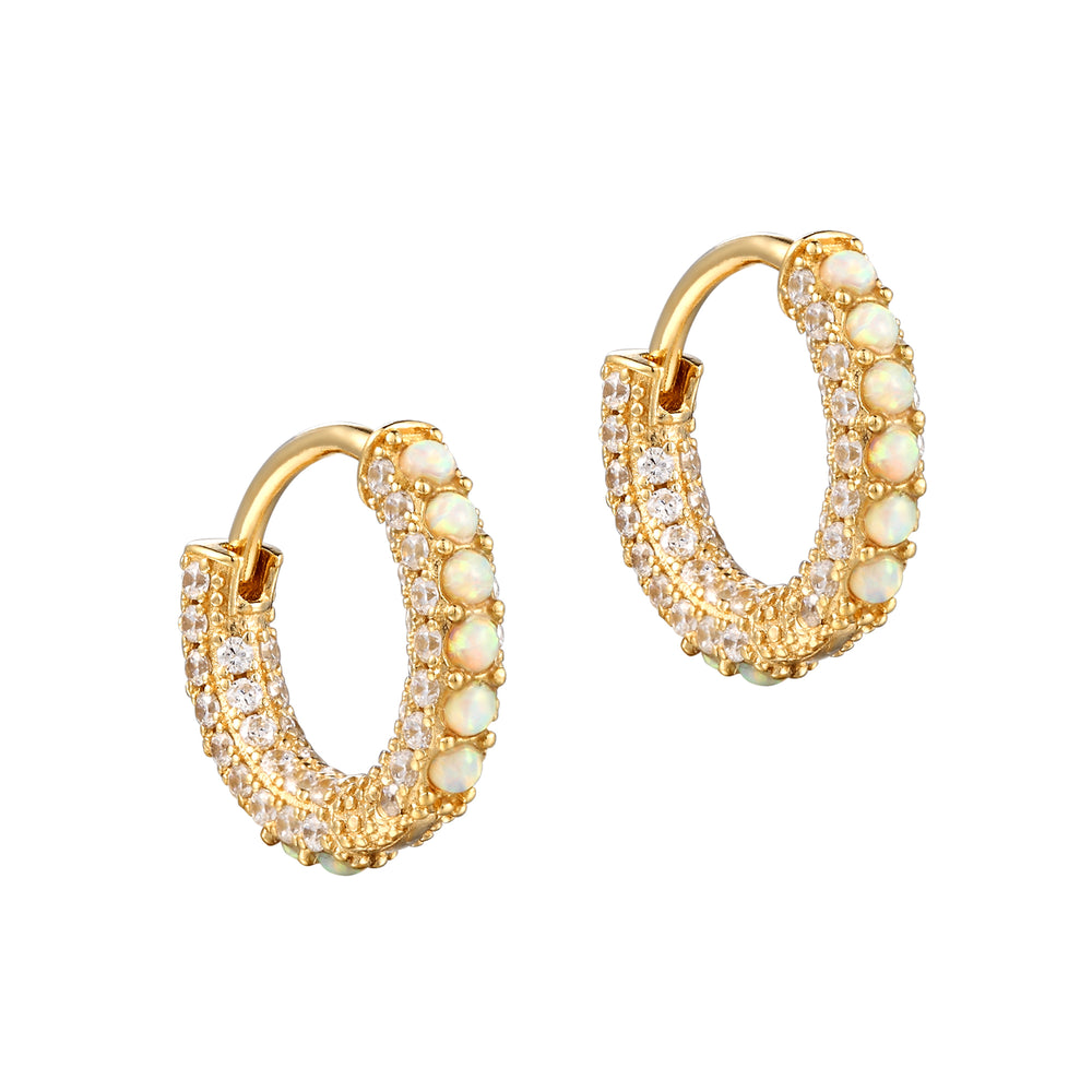 Opal Earrings - seol-gold