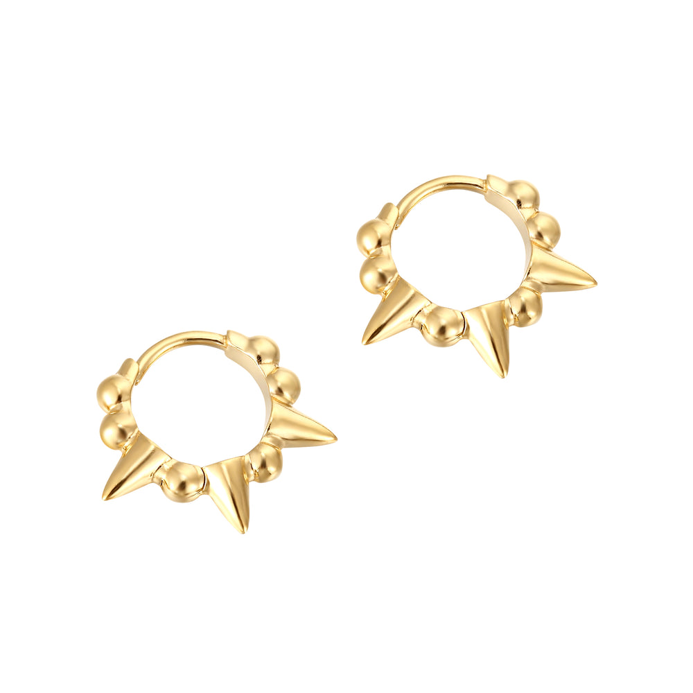 Spike gold Hoops - seol-gold