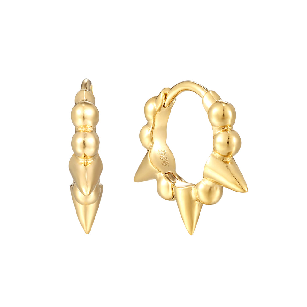 tiny gold cartilage hoops - seolgold