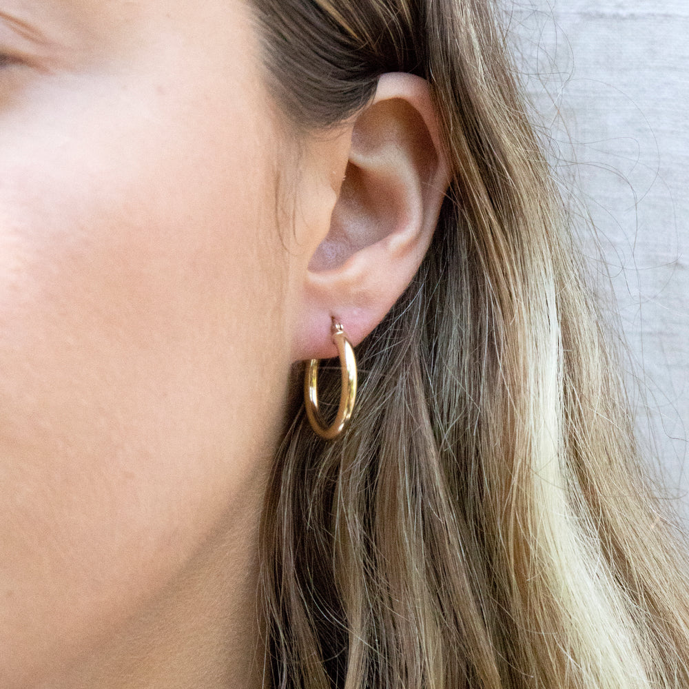 Chunky gold Hoops - seol-gold