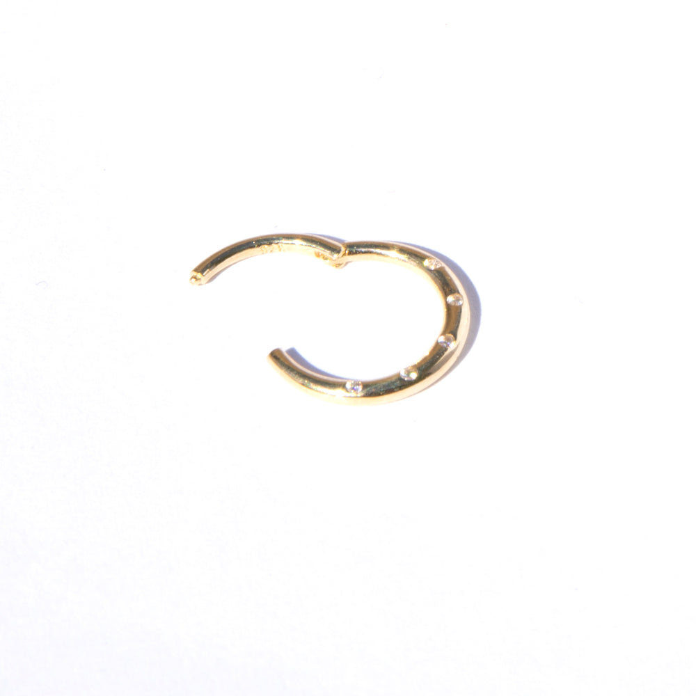 gold cartilage hoop earring- seol-gold