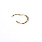 9ct gold cz clicker hoop - seol-gold