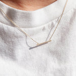 Gold Parallel Bar Necklace - seol-gold
