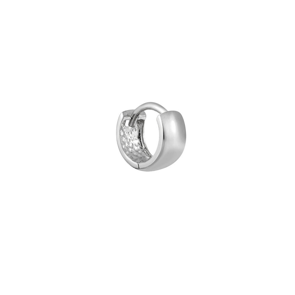 tiny white gold cartilage gold hoop - seolgold