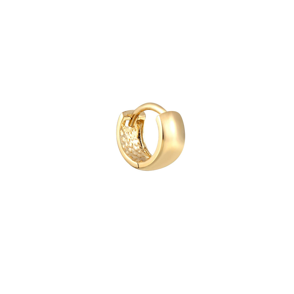 tiny cartilage gold hoop - seolgold