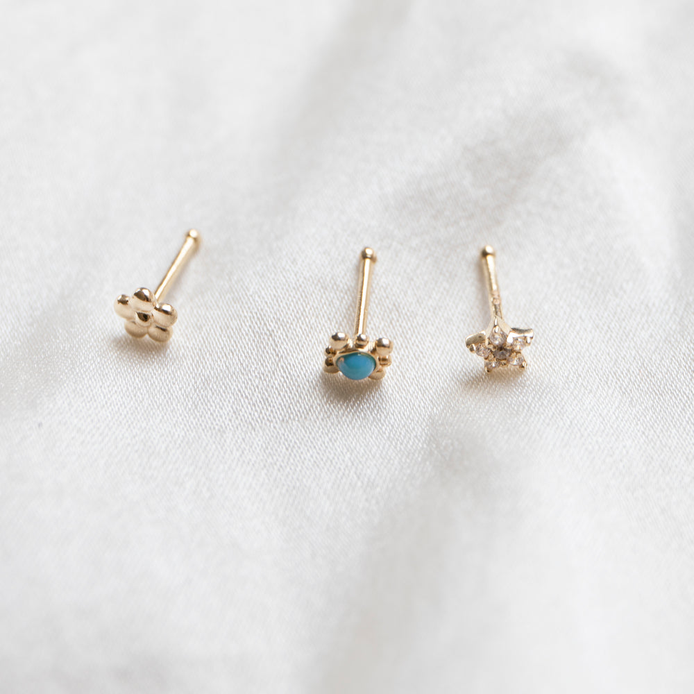 9ct gold nose stud - seol gold