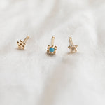 9ct nose stud - seol gold