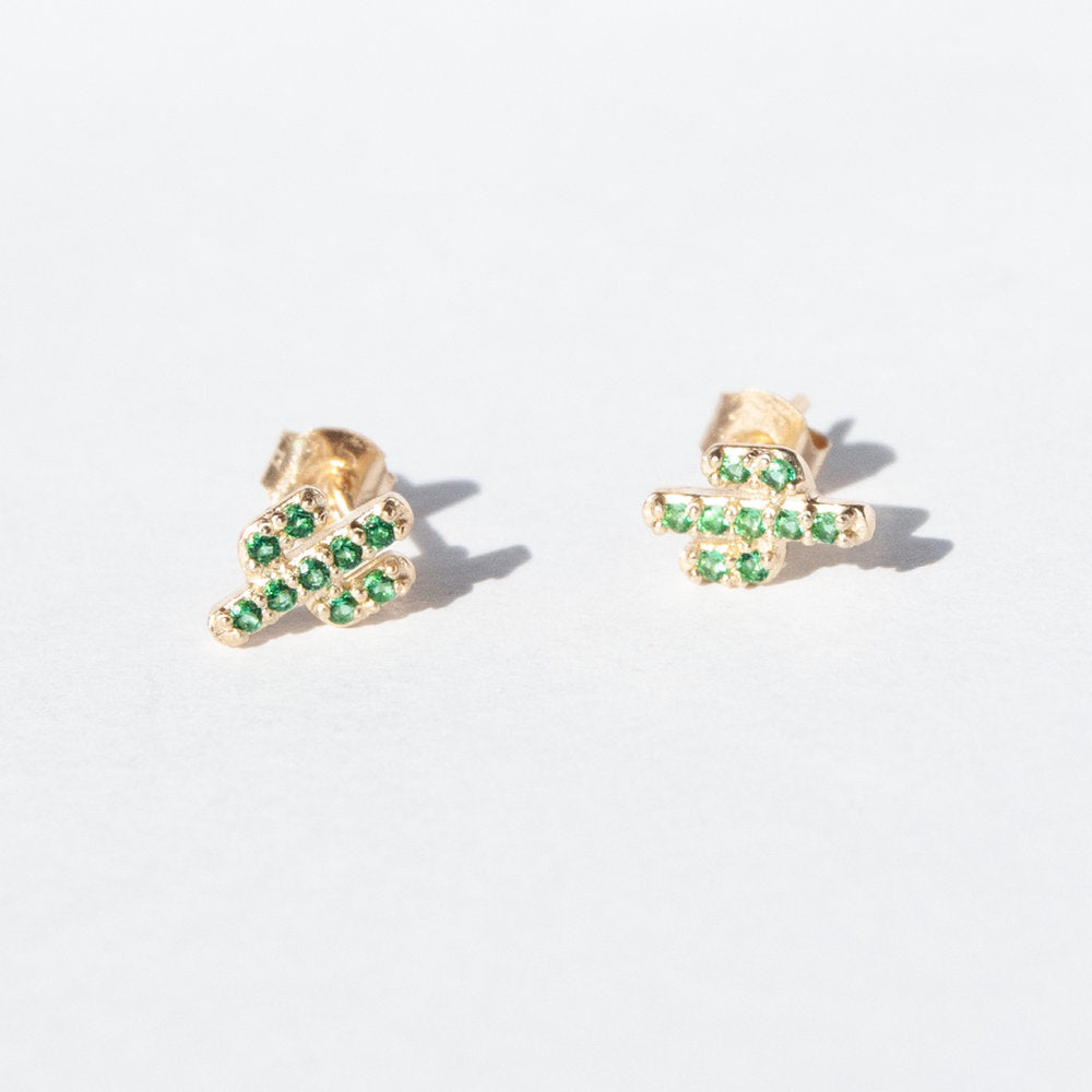 9ct Gold Cactus Studs - seol-gold
