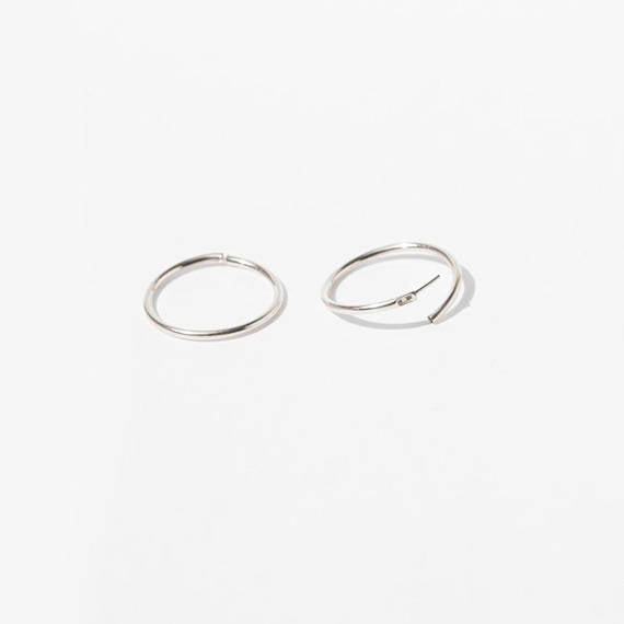 9ct Gold Hoop earrings - seol-gold