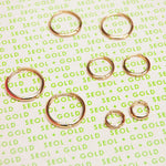 9ct Gold 15mm Huggie Earrings - seol-gold