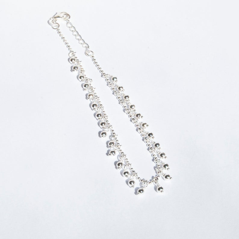 silver charm anklet - seolgold