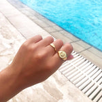 Rounded ring - seolgold