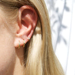silver cartilage earring - seol-gold