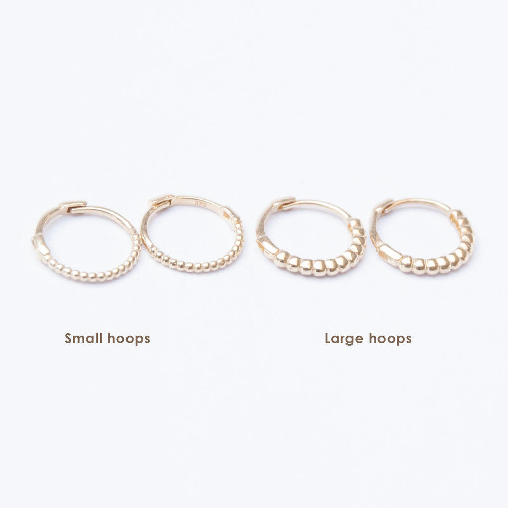 Dotted Hoops - seol-gold