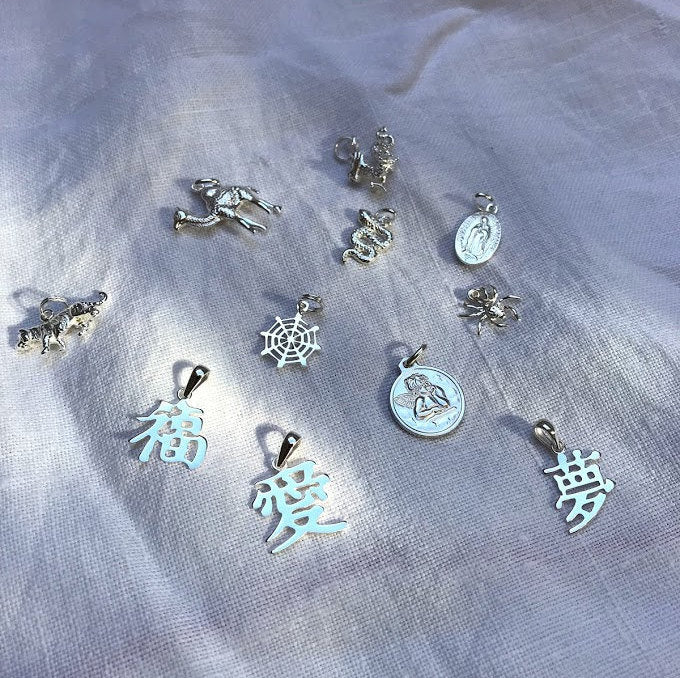 sterling silver charms -seol-gold