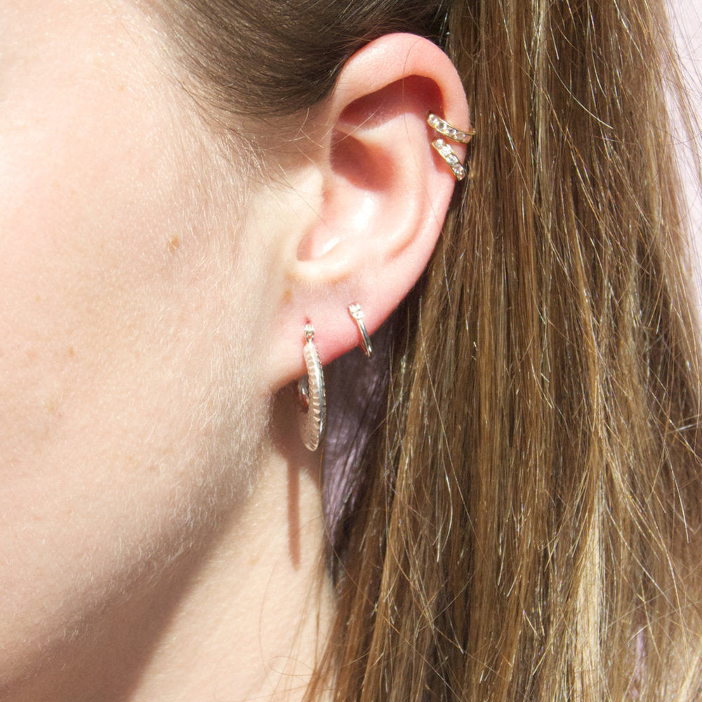 Silver Creole Hoops - seol-gold