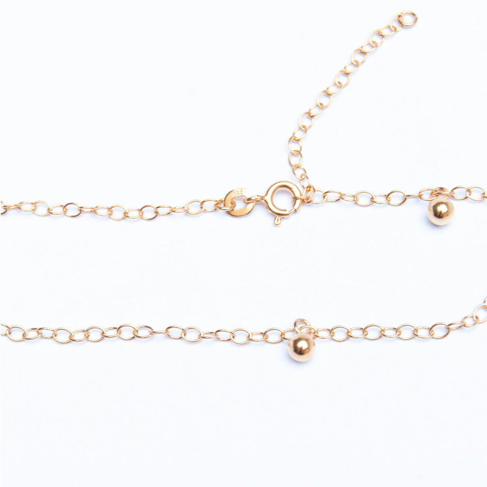 Beaded Ankle chain - seol-gold