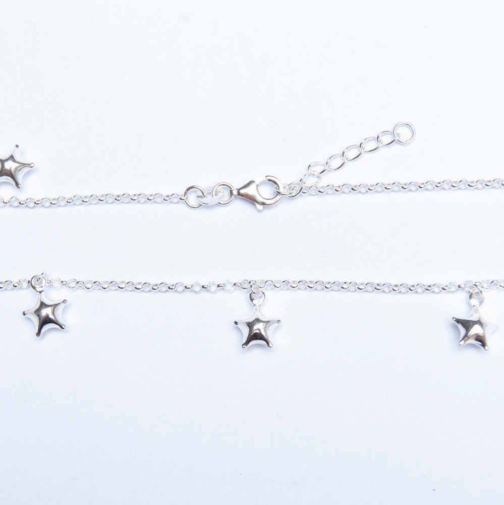 Gold star charm anklet - seol-gold