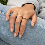 9ct Gold Dotted Arch Halo Ring - seol-gold