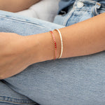 sterling silver bangle - seol-gold