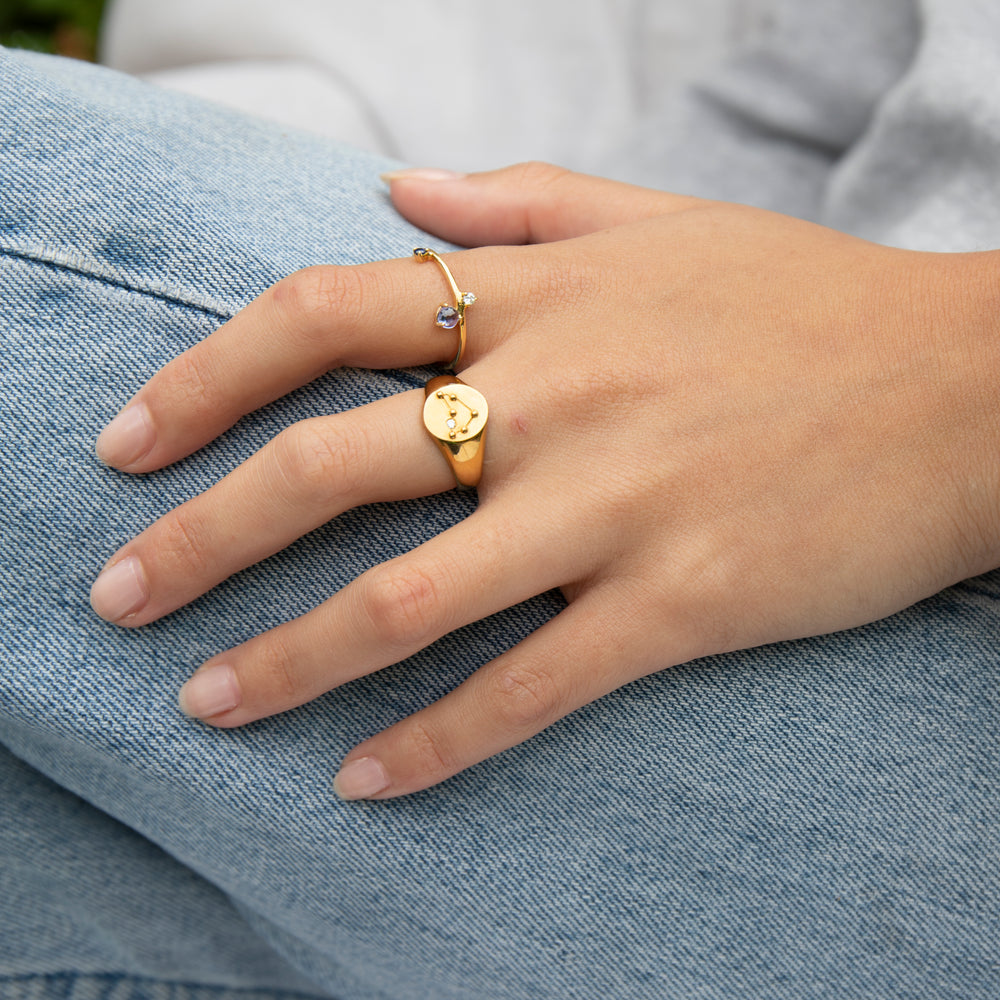 gold constellation ring - seol-gold