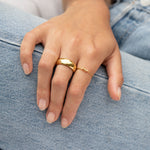 gold domed ring - seol-gold