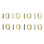 Multicoloured Tiny CZ Hoop Earrings
