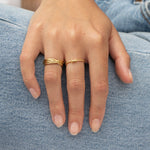 Gold Barbed Wire Twisted Band Ring