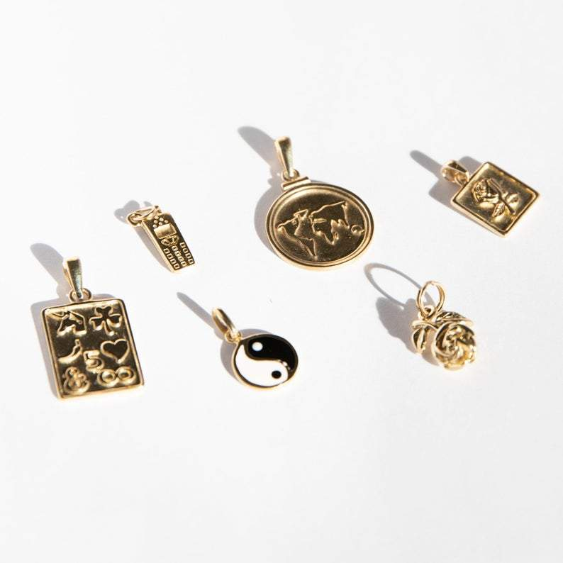 Y2K charm necklace - seol gold