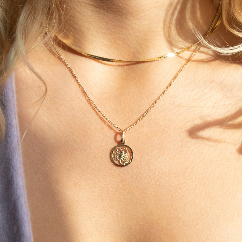 star sign pendants -seol gold