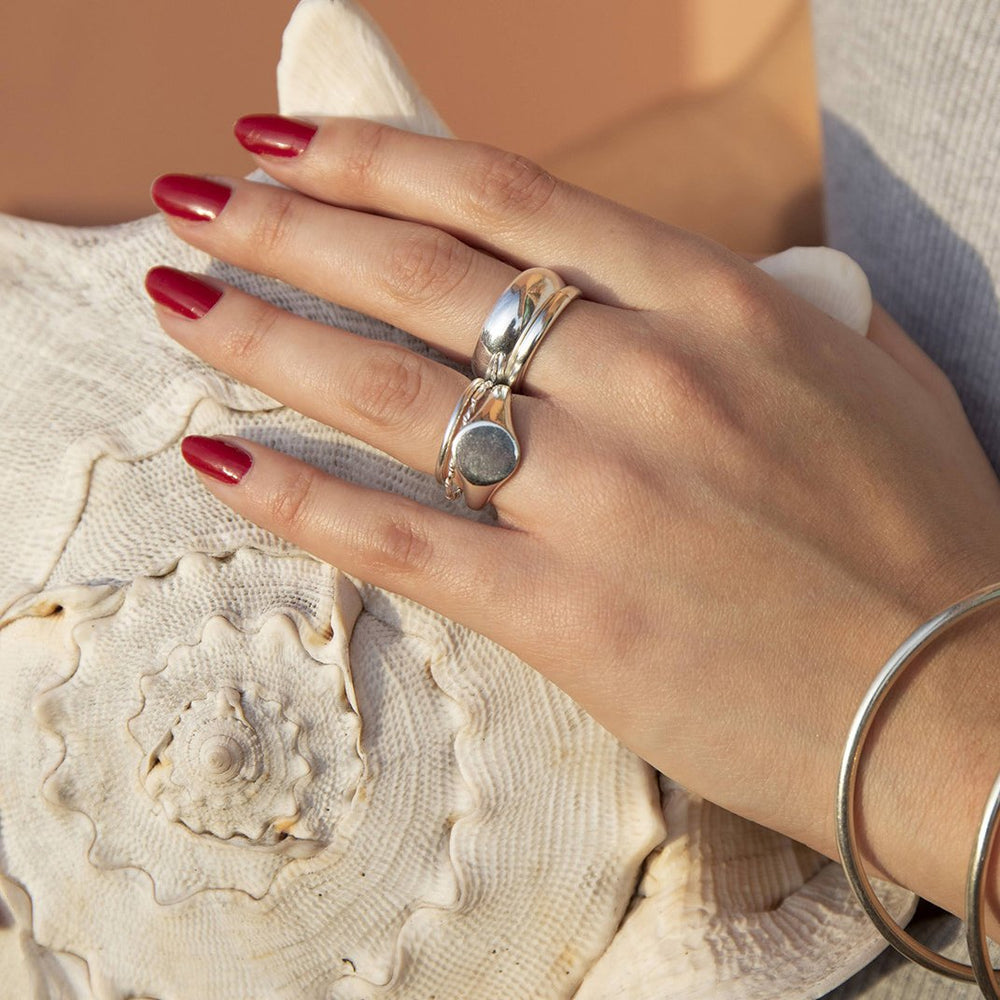 thin stacking ring - seol-gold