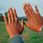 silver stacking rings - seolgold