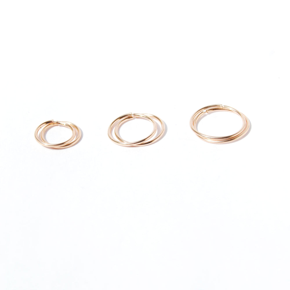 9ct gold thin hoops - seol-gold