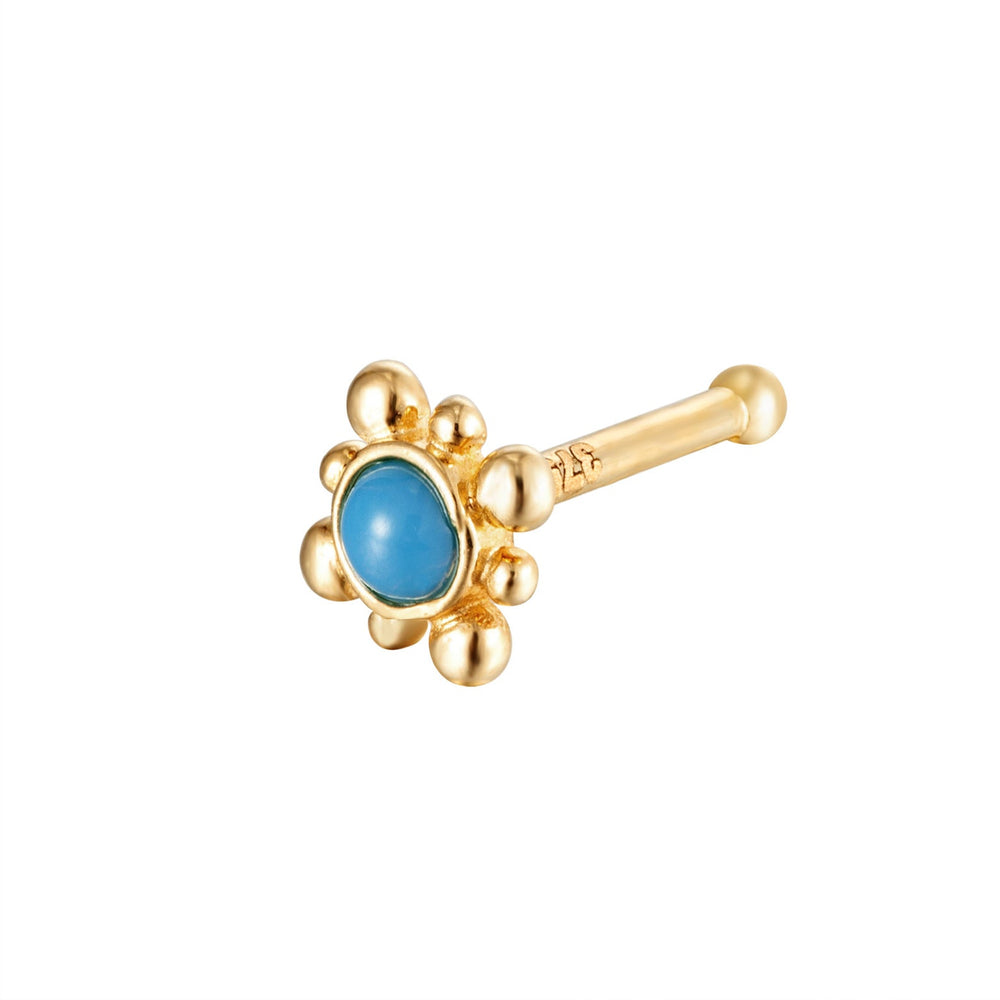 9ct Turquoise Nose Pin