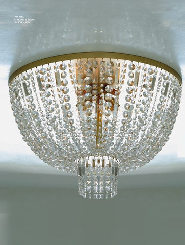 Bronze Luxury Crystal Ceiling Lamp