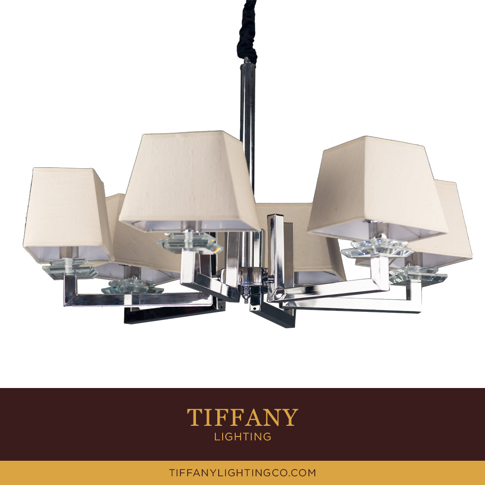 Modern 6 Light Chandelier