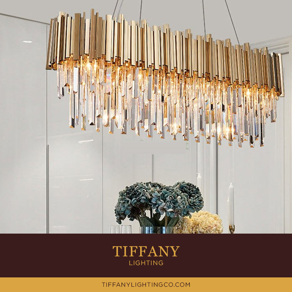 Nordic Golden Crystal Chandelier