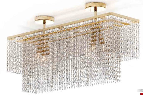 Classic gold Plated Crystal Pendant Light