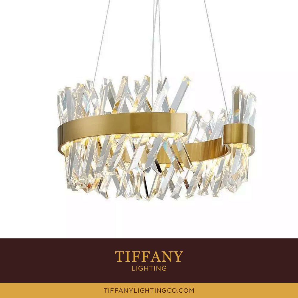Nordic Gold Crystal Pendant Light