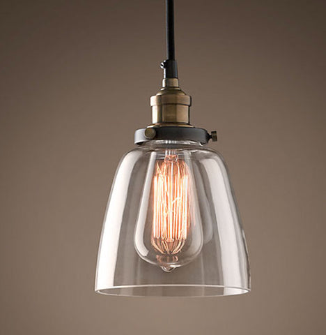 Industrial Loft Single Glass Pendant